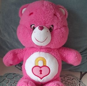 Vintage Care Bear Pink Secret Bear Plush